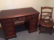 Kneehole desk and chair in Naperville, Illinois