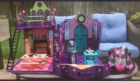 Monster High High School with Monster car and 2 dolls in CyFair, Texas