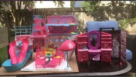 Barbie Pink Cruise Ship Playset with vanity and closet in CyFair, Texas