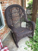 Wicker Rocking Chair in Spring, Texas