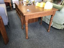 Wood end table in Oswego, Illinois