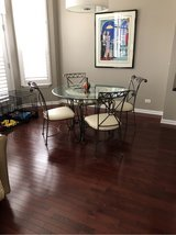 glass dining table and 4 chairs in Westmont, Illinois