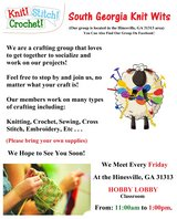 Craft Group Meeting, South GA Knit Wits Craft Group in Hinesville, Georgia