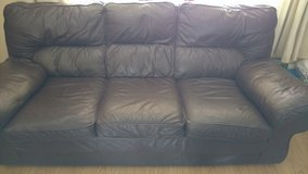 3 Seater Leather Sofa in Lakenheath, UK