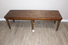 Turning leg Dining Bench solid Pecan wood! in CyFair, Texas
