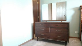 60's Vintage dresser with mirror in Shorewood, Illinois