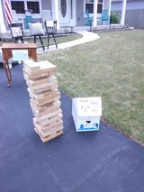 Giant jenga game in Naperville, Illinois