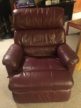 Lane Leather Swivel Recliner - Burgundy Color in Bolingbrook, Illinois