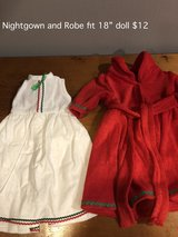 "White nightgown and Red Robe fit 18"" doll in Naperville, Illinois"