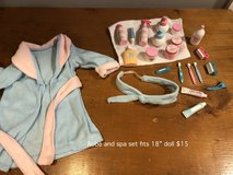 "Robe and Spa accessories fit 18""doll in Westmont, Illinois"