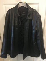 Leather jacket- Men's. Black. 3XL in Lockport, Illinois