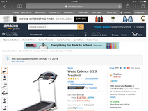 Weslo cadendencevg 5 9 treadmill in great condition used very little in The Woodlands, Texas