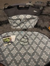 JJ Cole Diaper Bag like new used once no stains very clean has stroller straps paci pack matching in Travis AFB, California