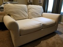 Linen Loveseat w/ Denim Cover in Clarksville, Tennessee