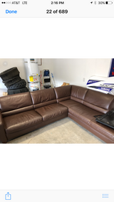 Leather sectional couch in 29 Palms, California