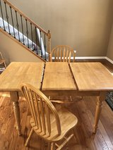 Light Oak kitchen table with 2 chairs in Naperville, Illinois