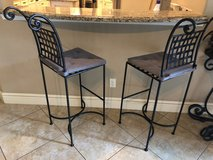 2 Wrought iron bar stools in The Woodlands, Texas