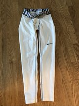 Nike pro long white compression tights in Plainfield, Illinois