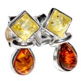 """New -  Authentic Baltic Amber 925 Sterling Silver 1/2"""" Earrings in Alamogordo, New Mexico"""