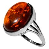 New - Authentic Baltic Amber 925 Sterling Silver Ring - Size 7 in Alamogordo, New Mexico
