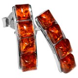 New - Authentic Baltic Amber 925 Sterling Silver Earrings in Alamogordo, New Mexico