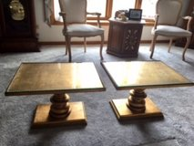 Two Vintage Gold-Toned Tables in Chicago, Illinois