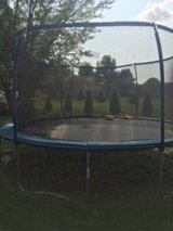 15 ft round trampoline with enclosure in Plainfield, Illinois