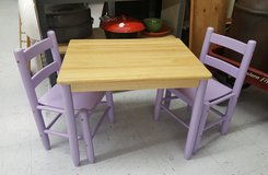 Kids table with 2 chairs in Camp Lejeune, North Carolina
