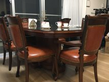 Solid Wood 6-seat Dining Table set in Okinawa, Japan