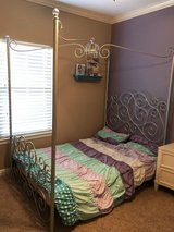 Silver FULL Princess canopy bed in Spring, Texas