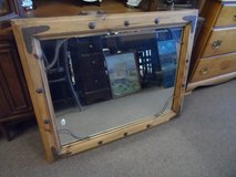 LARGE WOOD FRAMED MIRROR in Cherry Point, North Carolina