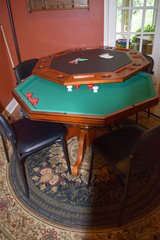 Game table w/poker and bumper pool.  4 leather chairs included in Beaufort, South Carolina