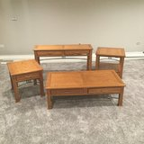 4 pc. Table Set -Solid Wood in Lockport, Illinois