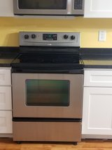 Whirlpool Stainless Glass top stove/range in Camp Lejeune, North Carolina