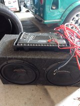 "2 - 12"" Pioneer Champion subs in box with 580w Mosfet Dual amp in Warner Robins, Georgia"