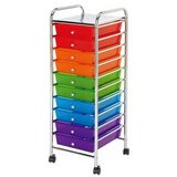 10-Drawers Color Rainbow Rolling Organizing Cart - $10 in Chicago, Illinois