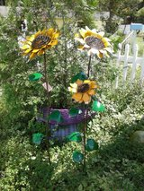 Sunflowers in Metal in Wilmington, North Carolina