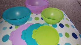 TUPPERWARE BOWLS WITH LIDS - BRAND NEW! in Plainfield, Illinois