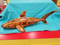 Wood Carved Shark 1594-3082 in Wilmington, North Carolina