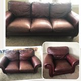 Leather couches - 3 pieces in Oswego, Illinois