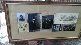 Framed Picture w/Vintage  Advertisement  Ads & Black /White Photos in Glendale Heights, Illinois