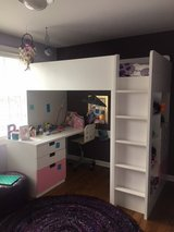 Kid's Loft Bed with Drawers and Desk in Plainfield, Illinois