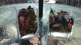 Fresh Potpourri  In Glass Square Vases in Oswego, Illinois