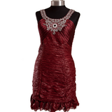 Burgundy Statement Bodycon Dress in Ramstein, Germany