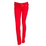 NEW Red Stretch Jeans With Belt in Ramstein, Germany
