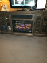 electric fireplace w/ speaker entertaiment center in Plainfield, Illinois