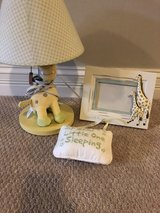 Baby decor night stand light , door hanger, and picture frame in Naperville, Illinois