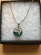 """Silver dolphin necklace - 16"""" in Shorewood, Illinois"""