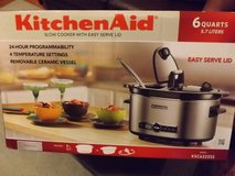 New...Kitchen Aide,  6-Quart Slow Cooker with Easy Serve Lid in Camp Lejeune, North Carolina