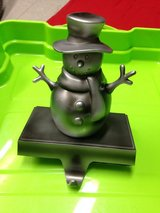 Snowman stocking holder in Wiesbaden, GE